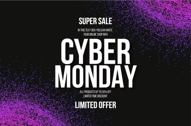Cyber Poniedziałek Sprzedaż Z Streszczenie Kolorowe Tło Cząstek Darmowych Wektorów