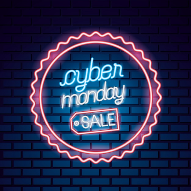 Cyber poniedziałek sprzedaż Premium Wektorów
