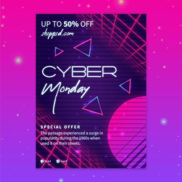 Cyber Poniedziałek Ulotka A5 Pionowa Premium Wektorów