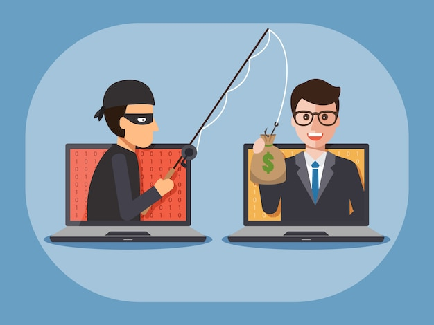 Cyber Złodziej Premium Wektorów