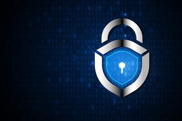 Cyberbezpieczeństwo i ochrona prywatności danych w tle Premium Wektorów