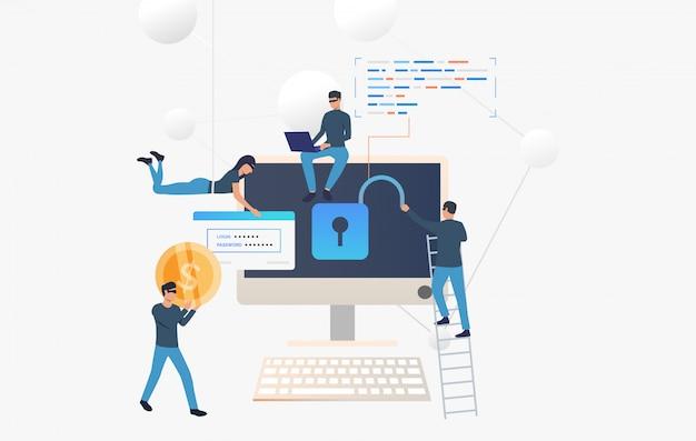 Cyberprzestępcy włamują się na konto bankowe Darmowych Wektorów