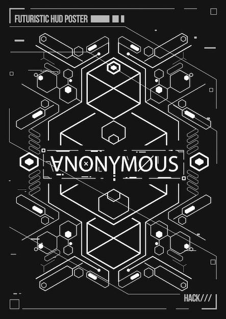 Cyberpunk futurystyczny plakat. szablon retro futurystyczny plakat. układ muzyki elektronicznej. Premium Wektorów
