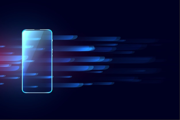 Cyfrowe Mobilne Futurystyczne Tło Koncepcja Technologii Darmowych Wektorów
