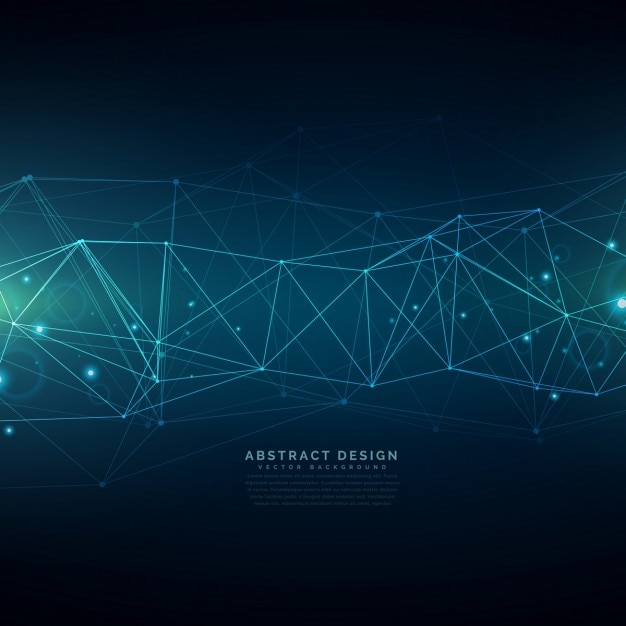 cyfrowe tła Technologia składa się z linii oczek Darmowych Wektorów