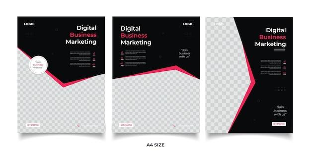 Cyfrowy Baner Marketingowy Firmy Premium Wektorów