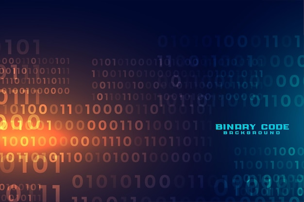 Cyfrowy Futurystyczny Kod Binarny Tło Numer Darmowych Wektorów