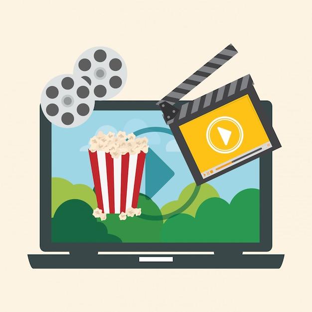 Cyfrowy projekt filmowy Premium Wektorów