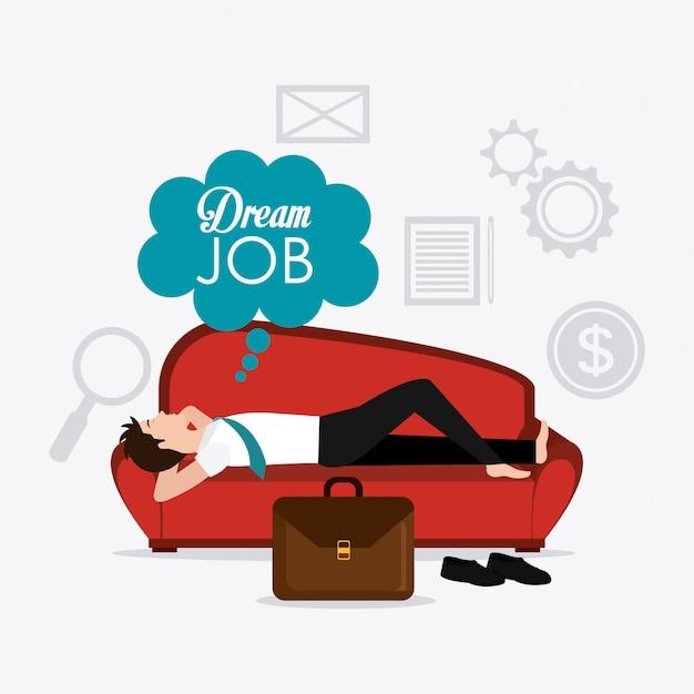 Cyfrowy Projekt Pracy. Premium Wektorów