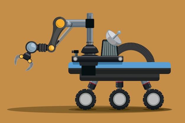 Cyfrowy Projekt Robota. Premium Wektorów