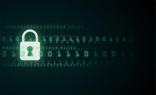 Cyfrowy Znak Strażnika Numer Kodu Binarnego Dane Cyber Premium Wektorów