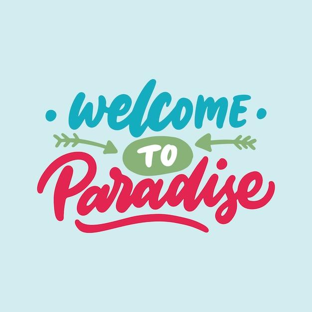 Cytaty typograficzne odręczne, zapraszamy do raju Premium Wektorów