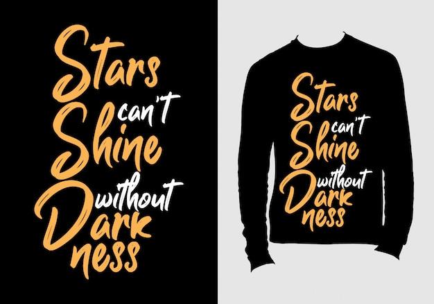 Cytaty Z Literami. Ręcznie Rysowane Typografii Projekt Koszulki Premium Wektorów