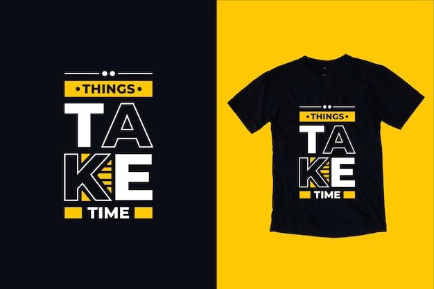 Cytuje Projekt Koszulki Wymaga Czasu Premium Wektorów