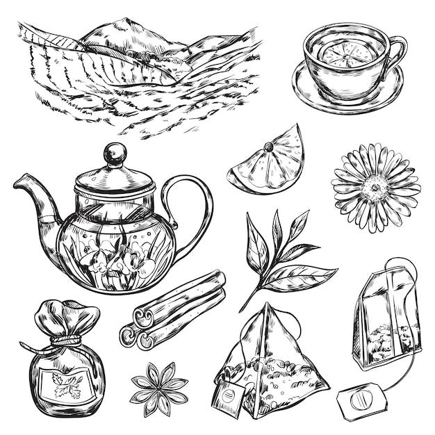 Czajniczek Do Herbaty Ziołowej Darmowych Wektorów