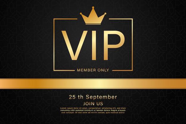 Czarna karta vip złoty kolor Premium Wektorów