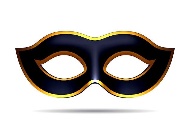 Czarna Maska Karnawałowa Premium Wektorów
