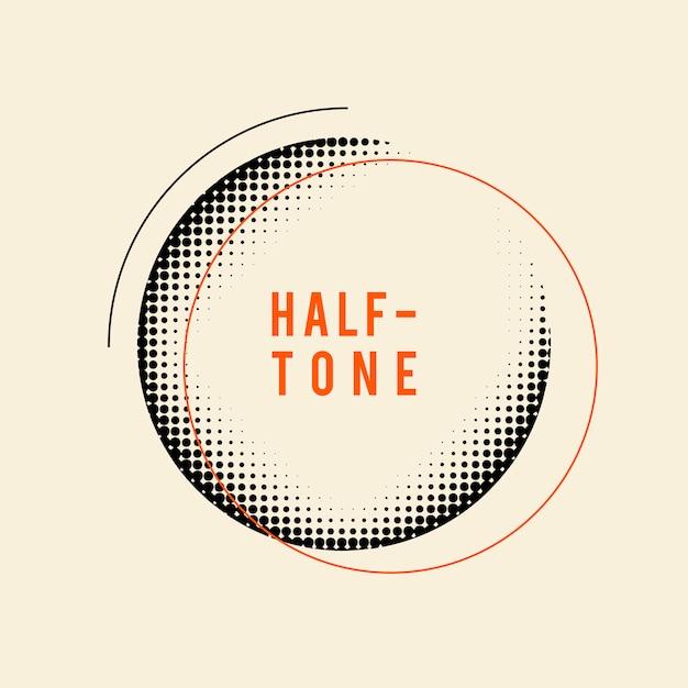 Czarna rocznika halftone odznaka na beżowym tło wektorze Darmowych Wektorów