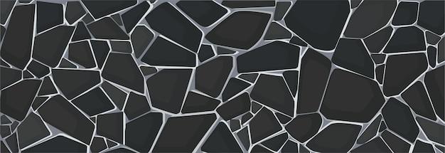 Czarna Tapeta Tekstura żwiru Premium Wektorów