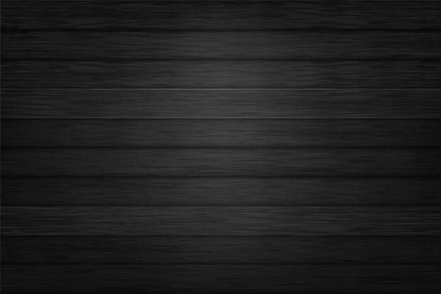 Czarna Tekstura Tło Wektor Wzór Drewna Premium Wektorów