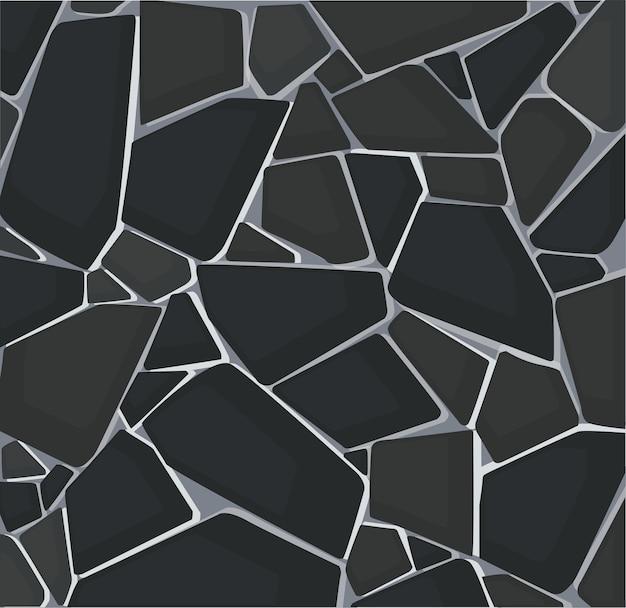 Czarna Tekstura żwiru Premium Wektorów