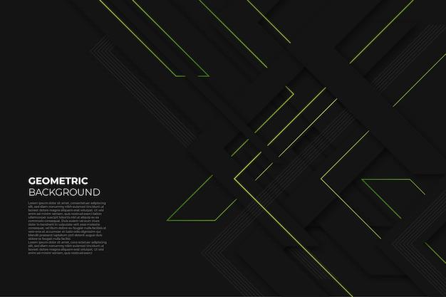 Czarne Eleganckie Geometryczne Tło Premium Wektorów