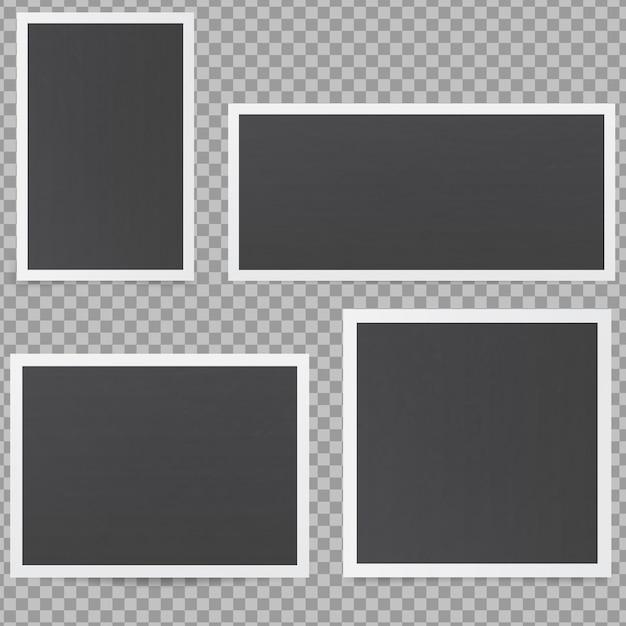Czarne Ramki Na Zdjęcia. Premium Wektorów