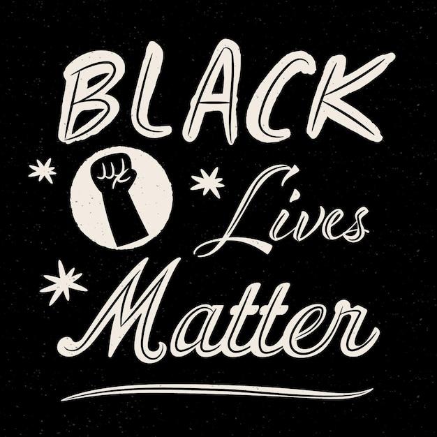 Czarne życie Ma Znaczenie - Koncepcja Liternictwa Darmowych Wektorów