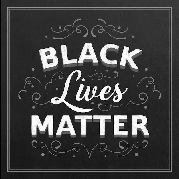 Czarne życie Ma Znaczenie Napis Na Czarnym Tle Darmowych Wektorów