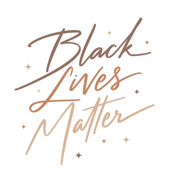 Czarne życie Ma Znaczenie - Napis Darmowych Wektorów