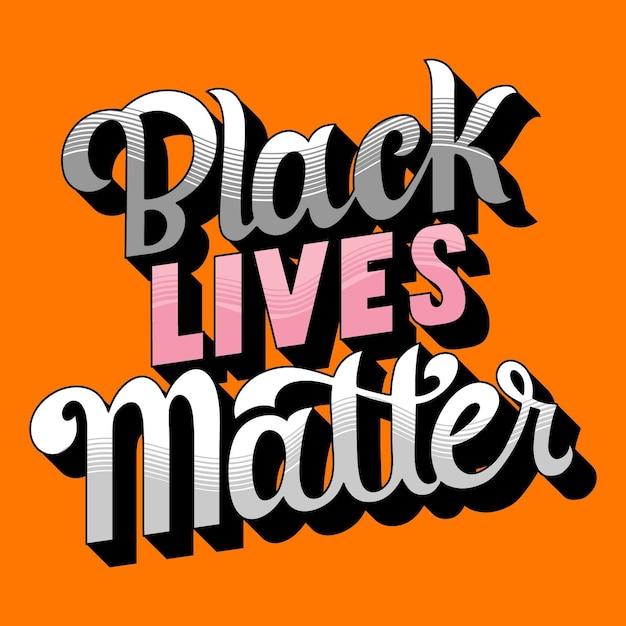 Czarne życie Ma Znaczenie Darmowych Wektorów