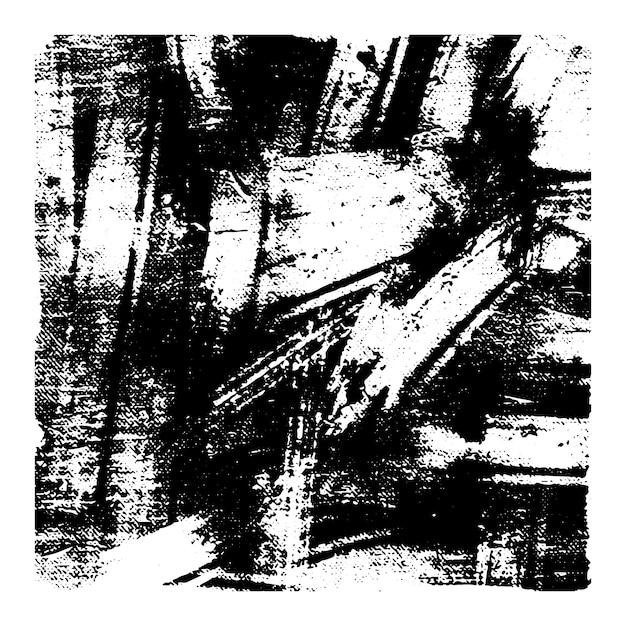 Czarno-białe Grunge Tekstury Wektor. Premium Wektorów