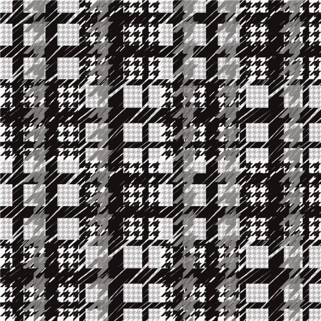 Czarno-biały Wzór Houndstooth Darmowych Wektorów