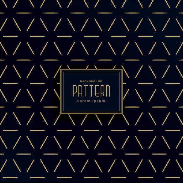 Czarno-złote Geometryczne Wzory W Stylu Vintage Darmowych Wektorów