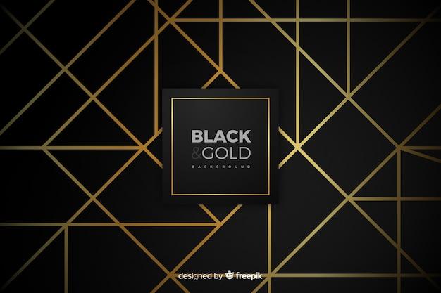 Czarno-złote tło Darmowych Wektorów