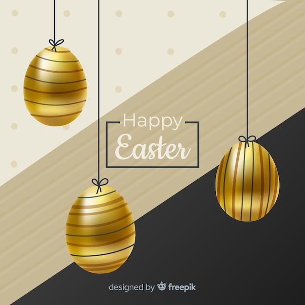 Czarny I Złocisty Szczęśliwy Easter Dnia Tło Darmowych Wektorów