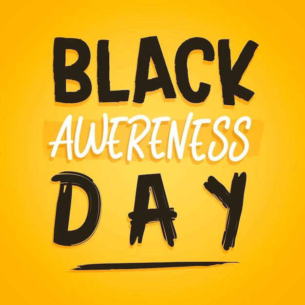 Czarny Napis Dnia świadomości Darmowych Wektorów
