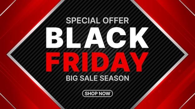Czarny Piątek Duży Transparent Sezonu Sprzedaży. Premium Wektorów