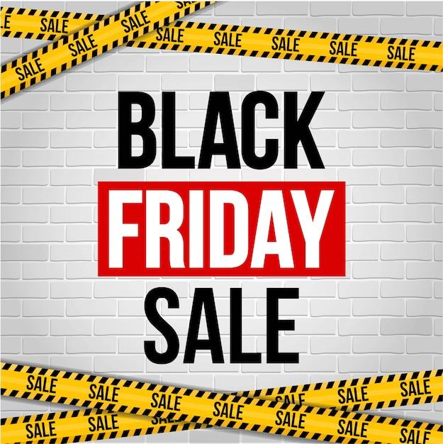 Czarny piątek oferta specjalna sprzedaż transparent tło. Premium Wektorów