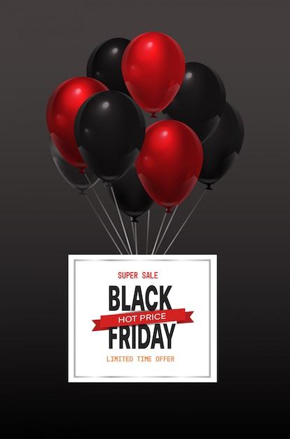 Czarny Piątek Oferta Specjalna Sprzedaż Transparent Premium Wektorów