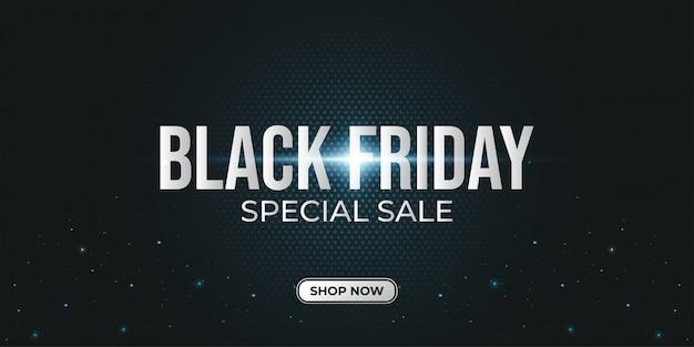 Czarny Piątek Special Sale Banner Z Ciemnym Tłem Półtonów Premium Wektorów