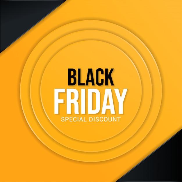 Czarny Piątek Specjalne Zniżki Transparent Tło Proste Premium Wektorów