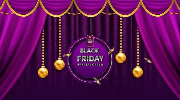 Czarny Piątek Sprzedaż Pięknych Kart Okolicznościowych Na Złotych Etykietach Do Dekoracji Darmowych Wektorów