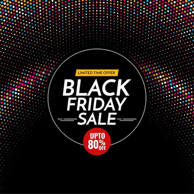 Czarny Piątek Sprzedaż Tło Z Kolorowymi Półtonami Premium Wektorów