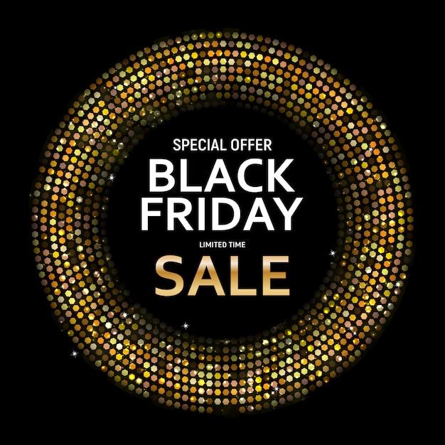 Czarny piątek sprzedaż transparent szablon. Premium Wektorów