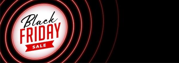 Czarny Piątek Sprzedaż Transparent W Czerwonym Neonowym Stylu Darmowych Wektorów