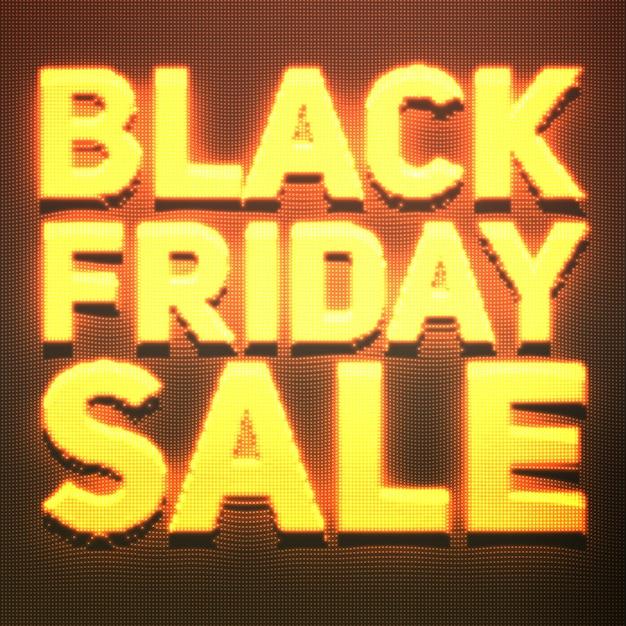 Czarny Piątek Sprzedaż Transparent Z Błyszczącymi Punktami, Takimi Jak Neon. Darmowych Wektorów