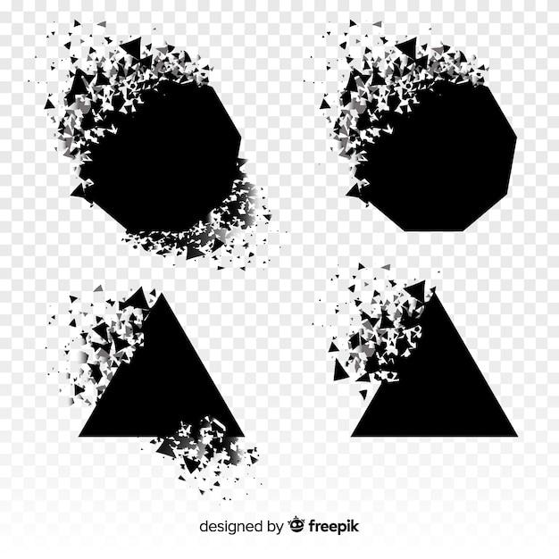 Czarny sztandar eksplozji Darmowych Wektorów