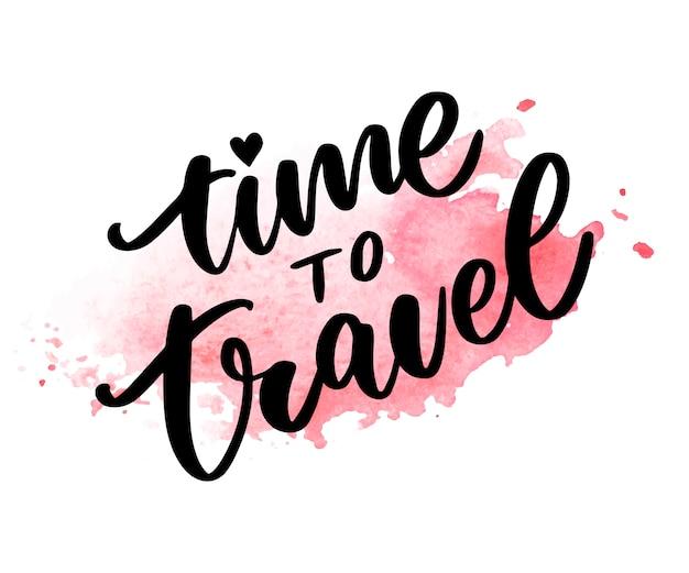 Czas Na Podróż Premium Wektorów