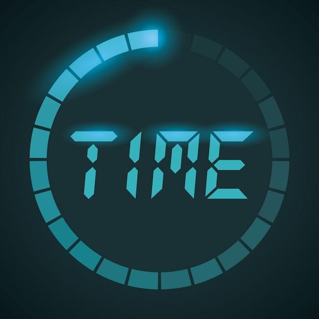 Czas Projekt, Wektorowa Ilustracja. Premium Wektorów